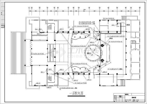 某地小型娱乐城照明电气图纸-图2