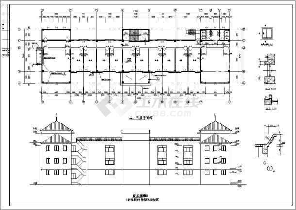 某社区商业楼建筑设计图(共5张)-图2