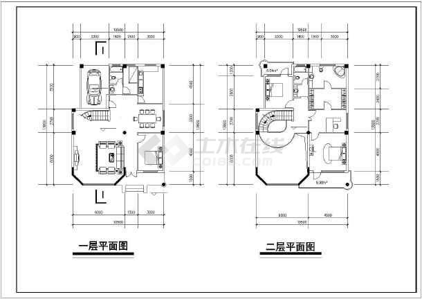 多层简约风格别墅楼建筑设计CAD施工图纸-图2