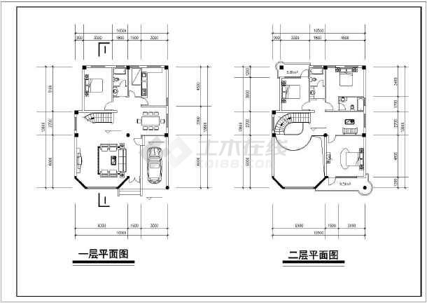 多层简约风格别墅楼建筑设计CAD施工图纸-图3