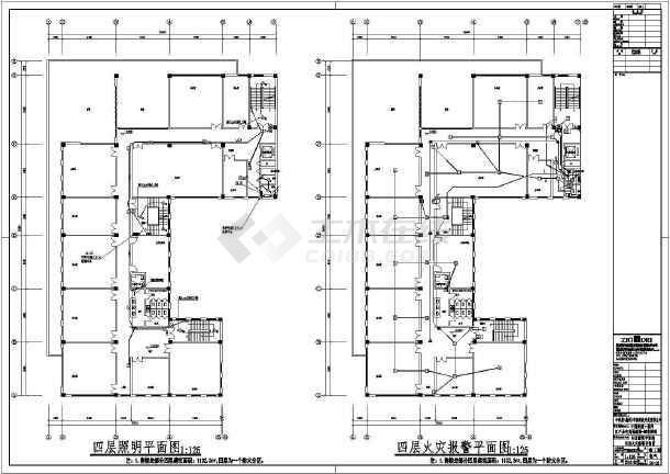 [安徽]农产品电商物流园售楼部电气施工图-图3