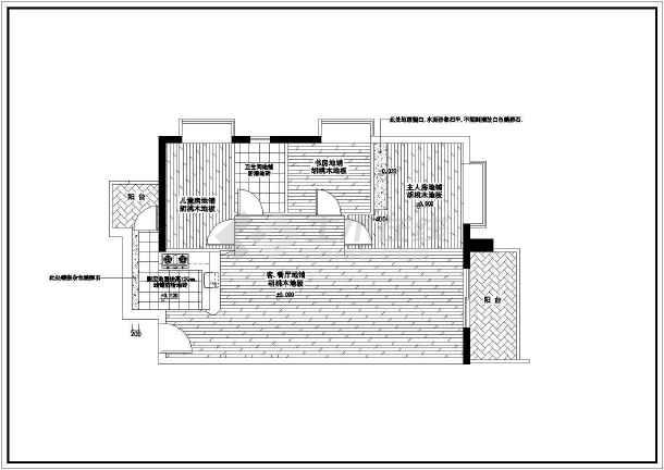 某经典全套家装cad平面施工设计图-图2