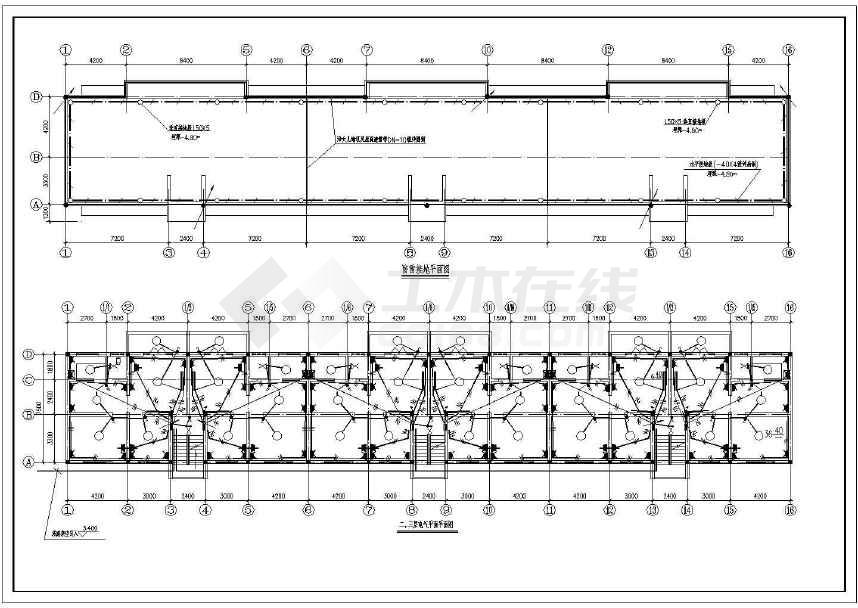 某地三层管理房办公楼全套图纸-图2
