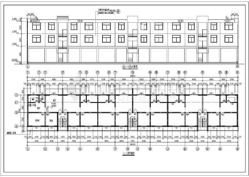 某地三层管理房办公楼全套图纸-图3