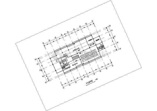 某地区高级写字楼建筑图(共15张)-图1