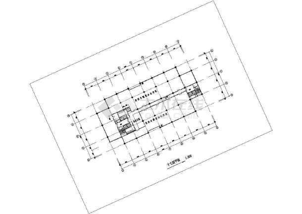某地区高级写字楼建筑图(共15张)-图3