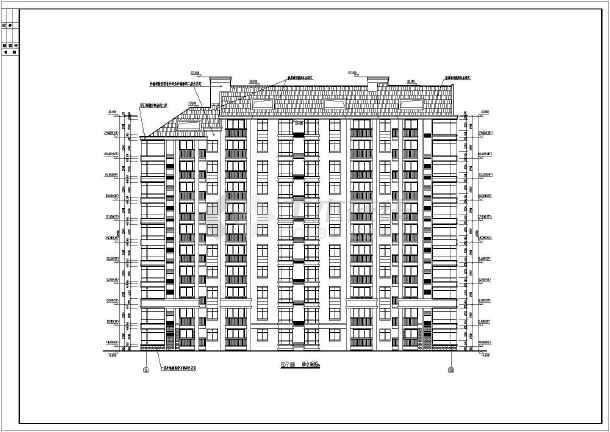 某小区小高层住宅楼建筑设计图(共16张)-图1