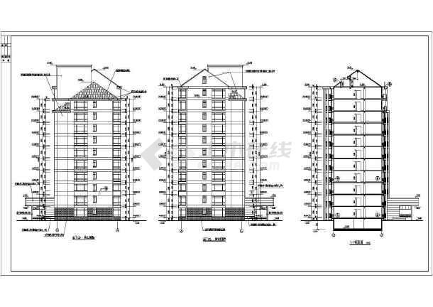 某小区小高层住宅楼建筑设计图(共16张)-图3