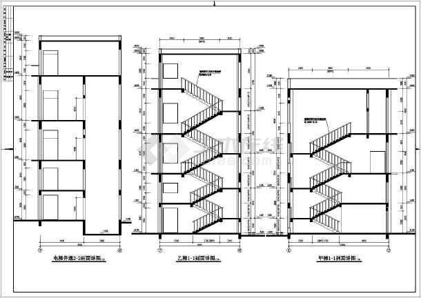 某多层混凝土框架厂房结构设计图-图1