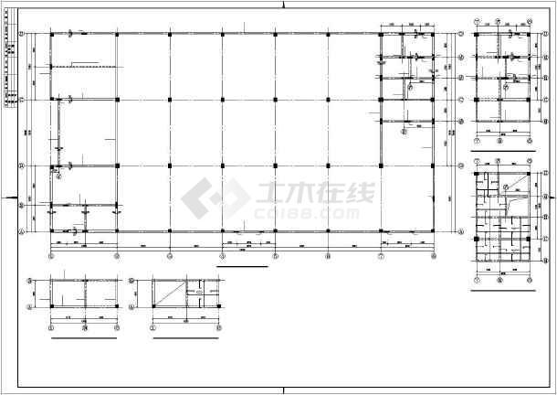 某多层混凝土框架厂房结构设计图-图3