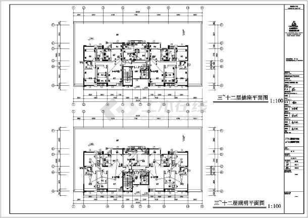 [湖南]四季花城商住楼电气施工图-图1