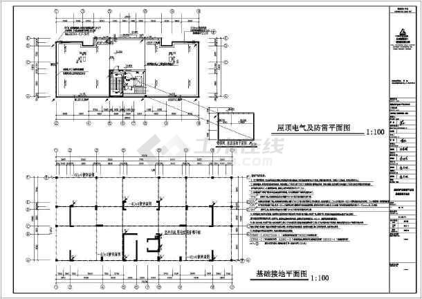[湖南]四季花城商住楼电气施工图-图2