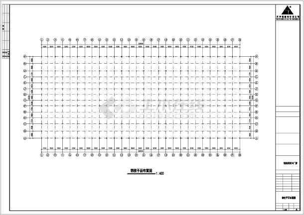 某钢筑厂房建筑结构cad图纸-图2