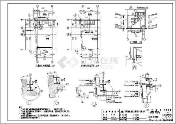 某地石材城建筑CAD图(含设计说明)-图3