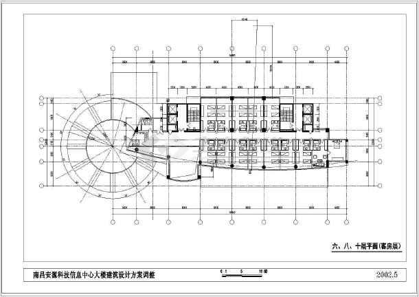 某市高层办公大楼建筑设计cad方案图-图1