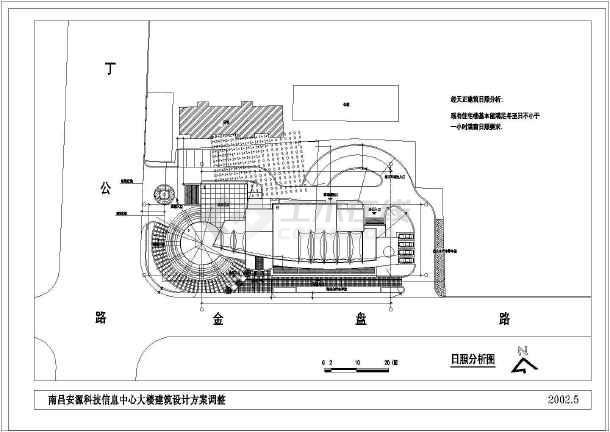 某市高层办公大楼建筑设计cad方案图-图2
