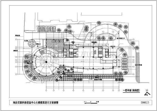 某市高层办公大楼建筑设计cad方案图-图3