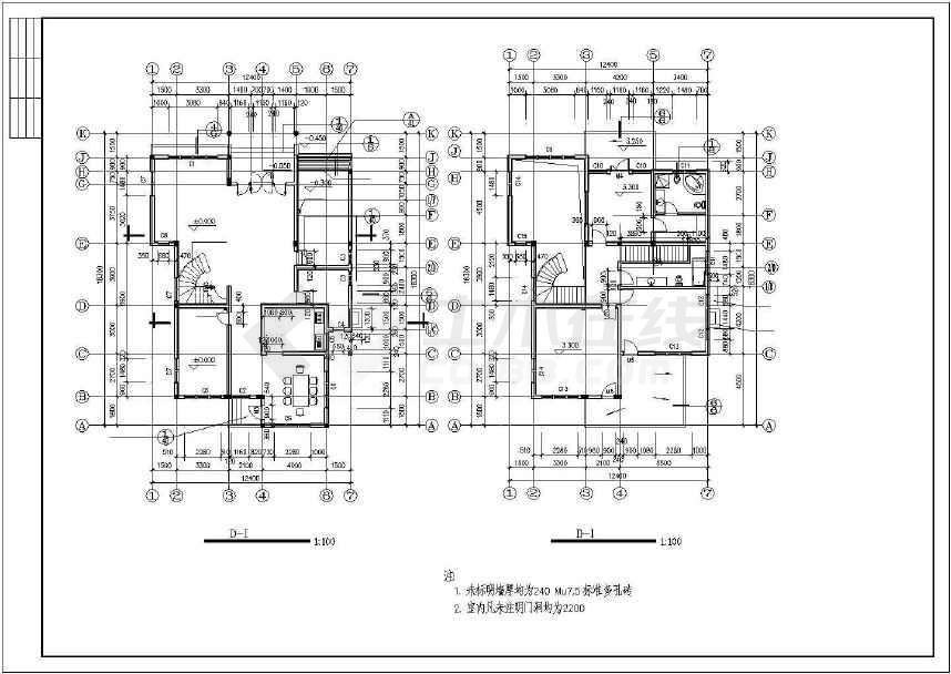 比较漂亮的一套别墅建筑设计图-图2
