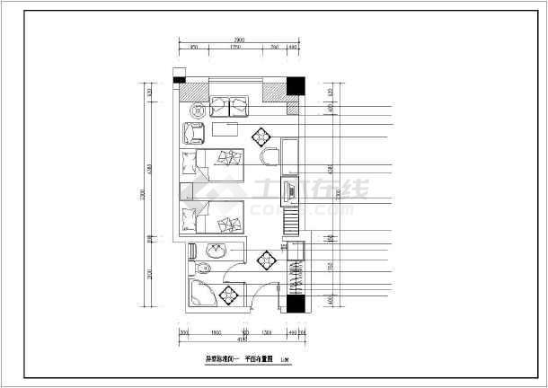 某酒店详细室内装饰cad立面图-图2