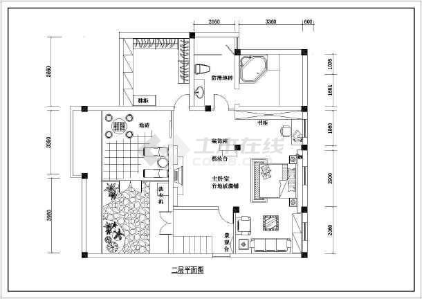 某精品详细大户型室内家装设计cad施工图-图1