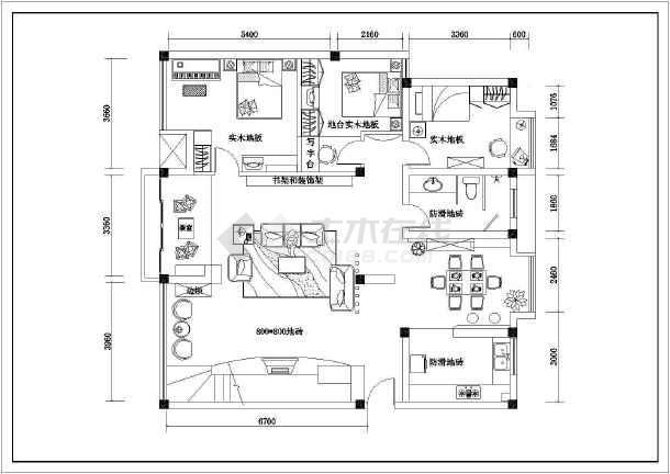 某精品详细大户型室内家装设计cad施工图-图2