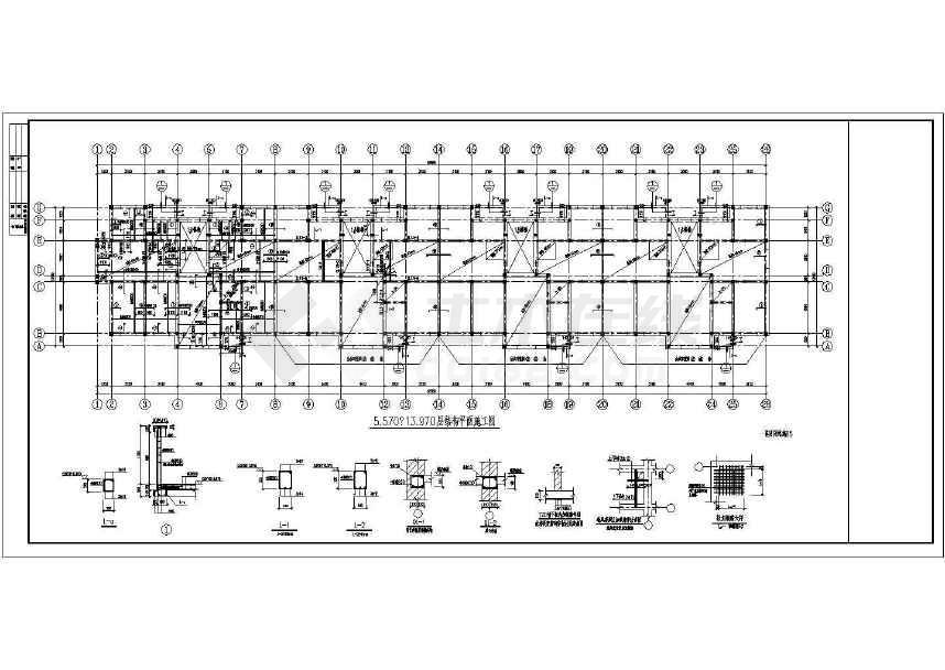 某六跃七层砖混住宅结构图(含设计说明)-图1
