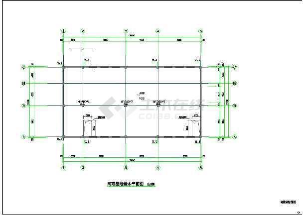 某镇某幼儿园新建工程给排水施工图(含设计说明)-图1