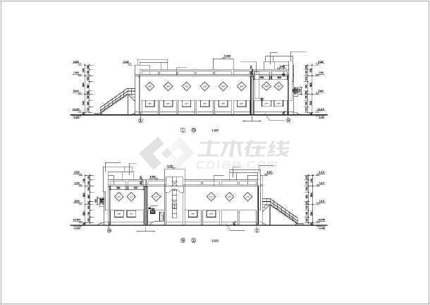 某实验大楼建筑设计施工cad图-图1
