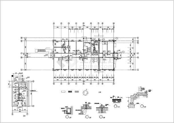 某实验大楼建筑设计施工cad图-图3