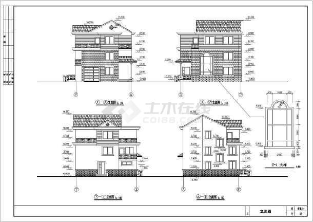 某地新型农村住宅楼建筑设计图(共11张)-图1