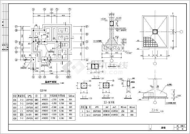 某地新型农村住宅楼建筑设计图(共11张)-图3