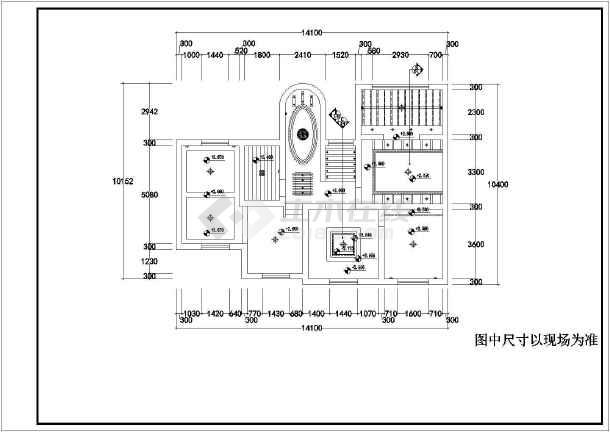 某精品二层别墅室内装饰cad施工图-图2