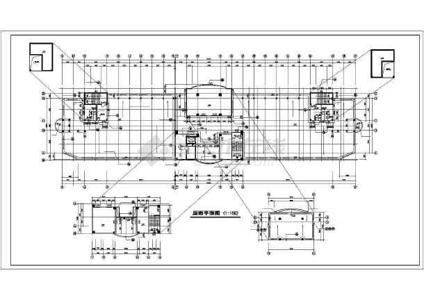 某医院住院楼装修cad施工图纸-图3