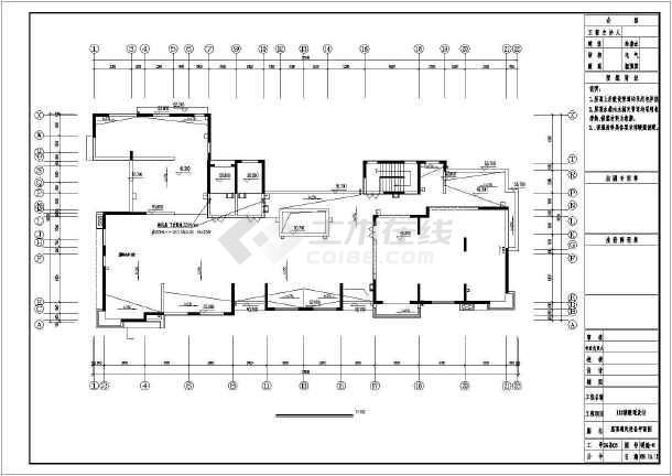 天津某住宅楼采暖通风图-图1