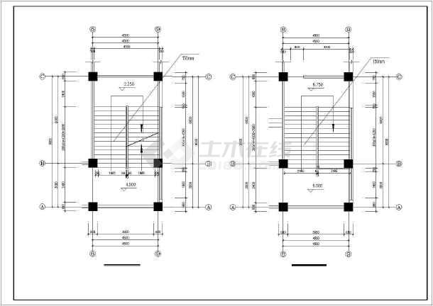 西南医院家属区教室及食堂cad施工图-图1