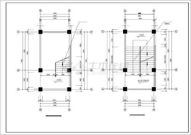 西南医院家属区教室及食堂cad施工图-图2