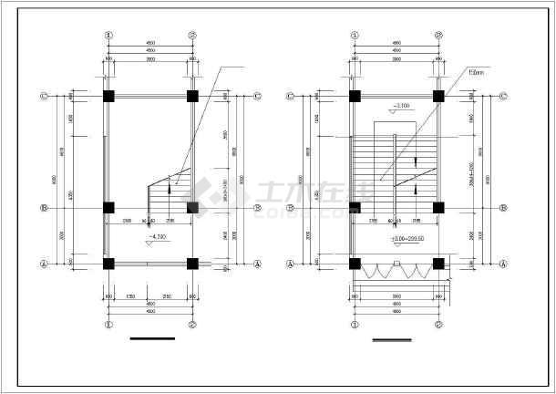 西南医院家属区教室及食堂cad施工图-图3