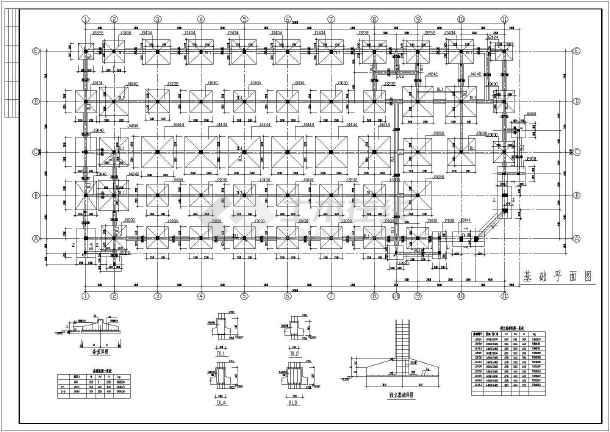 某三层(局部四层)框架办公楼建筑结构设计图-图2