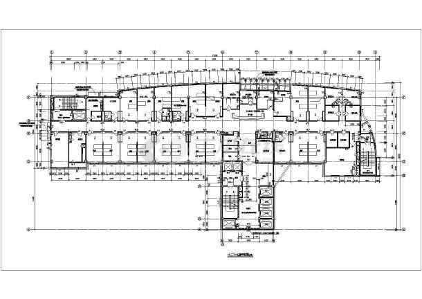 某医院住院部建筑cad施工图-图1