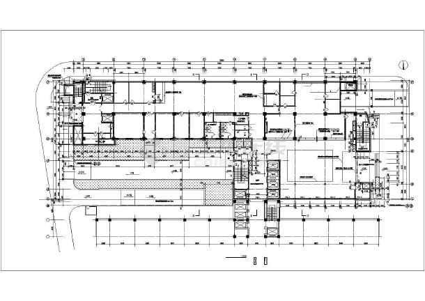 某医院住院部建筑cad施工图-图2