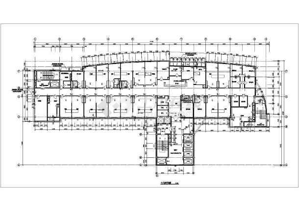 某医院住院部建筑cad施工图-图3