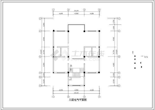 某地小别墅电气施工图纸(含土建图)全套-图2