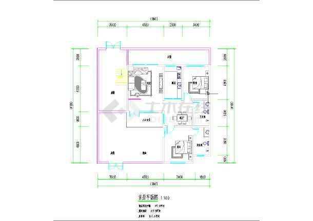 三套小开间别墅建筑平面方案图-图1