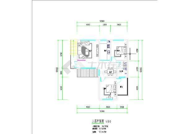 三套小开间别墅建筑平面方案图-图2