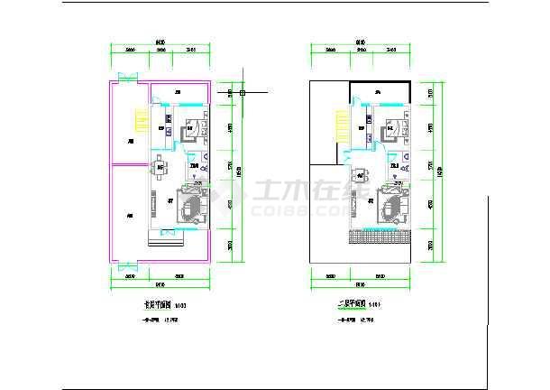 三套小开间别墅建筑平面方案图-图3