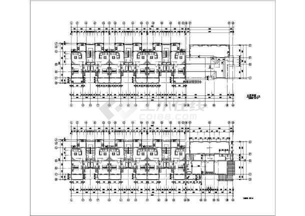 一整套齐全的花园洋房住宅楼建筑cad银河娱乐官网施工图-图2