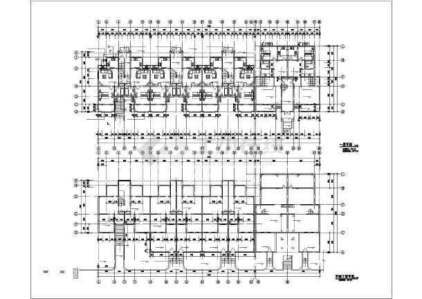 一整套齐全的花园洋房住宅楼建筑cad银河娱乐官网施工图-图3