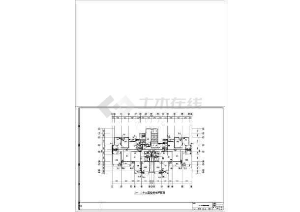 安徽高层住宅小区及其配套建筑给排水施工图-图3