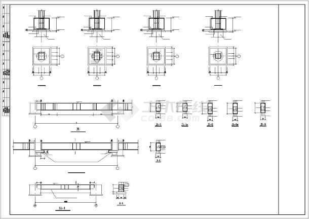 某框架联合站房结构设计图-图1
