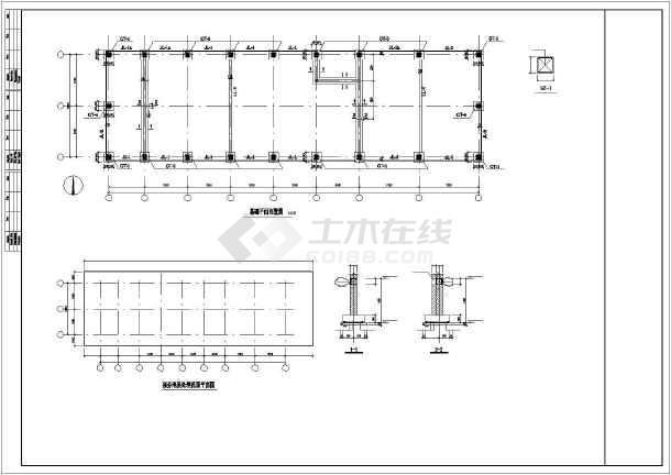 某框架联合站房结构设计图-图2